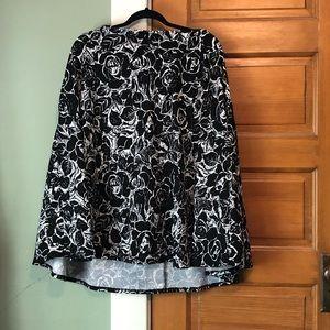 Agnes & Dora Black And White Midi Skirt